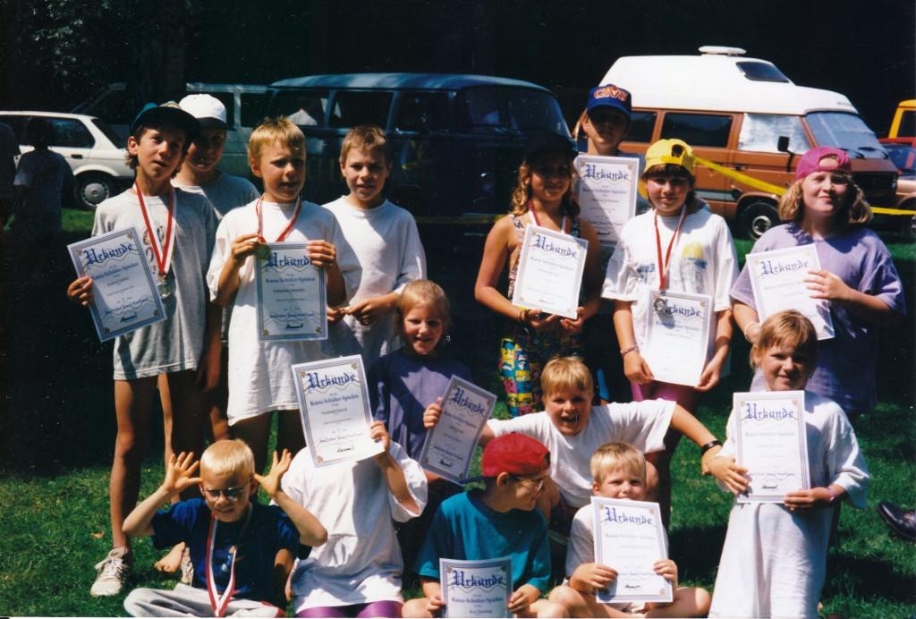 Wickinger-Jugend bei den Schülerspielen im Juli 1996