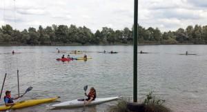 Andrang am Baggersee beim Ferienspaß der Wickinger