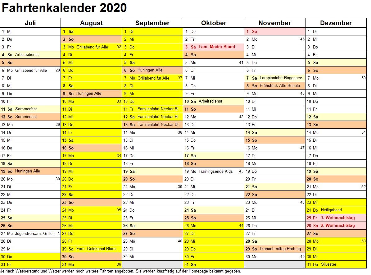 KFW Spöck Fahrtenkalender 2020 (Seite 2)